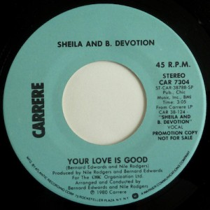 Sheila B Devotion Your Love is Good Pop Music Deluxe
